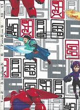 Disney Big Hero 6 Character Toss Fabric by Springs Creative bty PRICE REDUCED