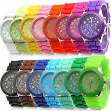 5X Geneva Unisex Stylish Silicone Jelly Gel Quartz Analog Wrist Watch - Lot of 5
