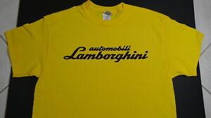 Brand New LAMBORGHINI T-SHIRT LOGO BADGE EMBLEM SPYDER LP610-4 HURACAN Yellow SV