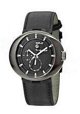 50 m (5 ATM) Armbanduhren aus echtem Leder mit 24-Stunden-Zifferblatt