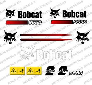 BOBCAT S550 SKID STEER DECAL STICKER SET