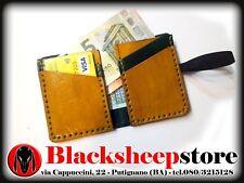 Portafoglio cuoio compatto 2 colori made in Italy porta tessere carteartigianato