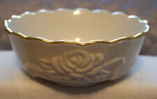 Small Lenox Bowl with Embossed Rose Detail