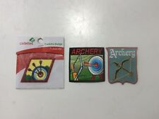 Girl/Boy Scout/Guides Patch/Crest/Badge Iron-on ARCHERY (3 Patches)