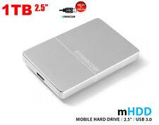 "NEW 1TB 2.5"" Freecom mHDD Mobile External Aluminum Metal  Hard Drive USB 3.0"