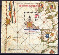 Macao Macao 1990 blocco 16 ** MNH POSTA freschi rosa dei venti nave ships Michel € 75,--