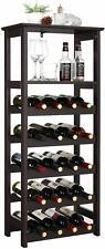 NEW VASAGLE 20 Wooden Wine Rack, Free Standing Bottles Display Storage Shelf