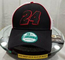 GORDON 24~NASCAR~NEW ERA~9FORTY~TRUCK TEAR~BLACK, WHITE & RED~ADJUSTABLE
