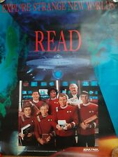1991 Star Trek Poster, Original Stars, READ
