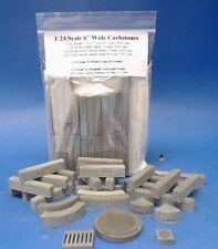 "1:24 Scale  Diorama Accessories    6"" Wide Curbstones + Manhole Cover"