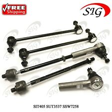 6Pc JPN Suspension Tie Rods Kit Sway Bar Link Set For Dodge Caravan 2001-2004