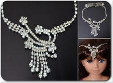 LUSSO Tikka India Diadema Tiara Bollywood doppio capelli pettine CATENA matrimonio sposa