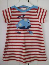 Frugi Organic Cotton Stripe Embroidered Applique Fish Nautical Tunic Dress 3-6 M
