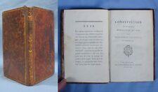 CONSTITUTION FRANÇAISE Présentée au ROI par l'ASSEMBLÉE NATIONALE / E.O. 1791