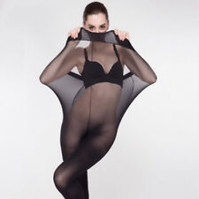 BONUZTI Plus Size Elastic Tights Stockings Women Shaping Pantyhose Socks BLACK