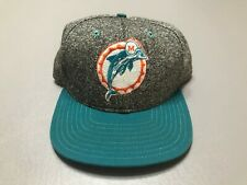 Vintage 90s Miami Dolphins NFL BLOCKHEAD Adjustable SnapBack Hat Made In USA