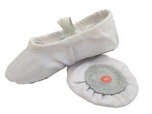 Ballet Dance Gymnastic Yoga Shoes Split Sole White