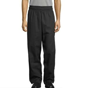 Uncommon Threads Unisex 4004 Pull On Chef Pants Black 5XL