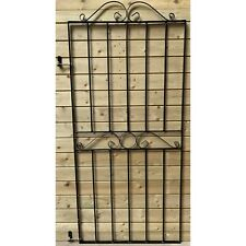 More details for tall black wrought iron pedestrian garden gate 1800mm (h) x 810mm (w) clearance