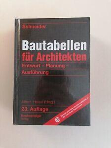 Bautabellen für Architekten von Albert und Heisel (23. Auflage)