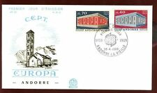 Andorra French 1969 Europa FDC #C5822