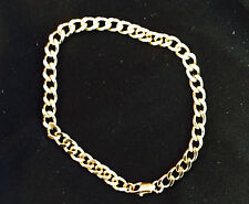 USA Hot Man Mens Bracelet Solid 18k Karat Yellow GOLD electroplate Link USA