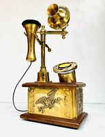 The British Ericsson London Classy Rotary Dial Brass 1940 Corded Telephone TP 01