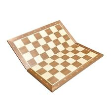"""Folding Walnut & Maple Wooden Chess Board - 2.25"""" With Notation"""