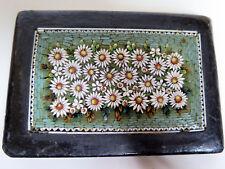 Biedermeier Mikro-Mosaik Briefbeschwerer Millefiori mit Blumenmuster um 1820-30