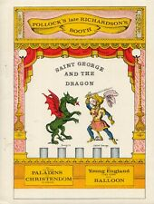 Theatre St Georges et dragon PAPER DOLL  RARE UNCUT LASER REPRODUCTION