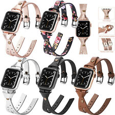 For Apple Watch Leather Wrist Band Strap iWatch SE Women Series 6 5 4 3 40/44 mm