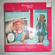 American Girl Doll Beforever Mini Kit 3 Book Collection Set Stand NEW