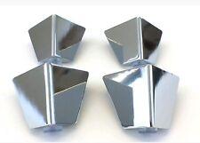 4x Chrome furniture Metal legs feet, sofas, armchairs, Footstools 65mm high A425