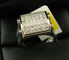 14k White Gold Natural Diamond 1.5 TCW & Sapphire Reversible Ring Sz 7.25