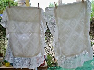 Cottage Shabby Chic Lace Pillow Shams-Standard Size