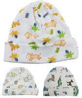Baby Boy Girl Newborn Toddler Infant Print Knit White Hat Cap Warm Unisex Beanie
