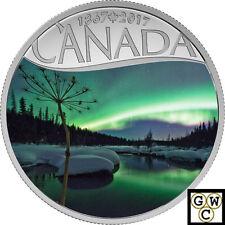 2017$10FINE SILVER 1/2oz CANADA'S 150TH:AURORA BOREALIS AT MCINTYRE CREEK(18065)