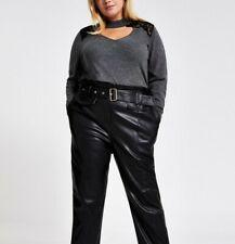 RI Plus Lace Choker Neck Knitted Jumper Charcoal Size 20*BNWT+