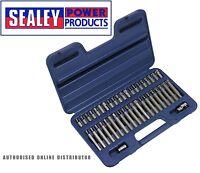"Sealey AK219 TRX-Star/Spline/Hex Bit Set 42pc 3/8"" & 1/2""Sq Drive"