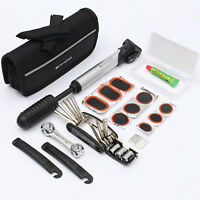 SAHOO Bike Cycle Bicycle Tool Kit with Pump Tyre Levers Patches Puncture Repair