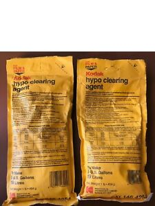 2 Vintage Kodak Hypo Clearing Agent, for film & paper. Each makes 5 gallons.
