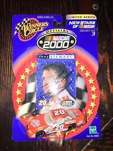 2000 WINNERS CIRCLE NASCAR TONY STEWART PONTIAC 1/64 DIE CAST SIGNED AUTOGRAPH