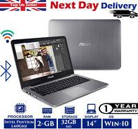 ASUS VivoBook E403SA 14-Inch Laptop Intel Pentium N 1.60Ghz 2GB 32GB SSD Win 10