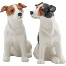 More details for quail ceramics jack russell salt and pepper shaker pots dog cruet pottery gift