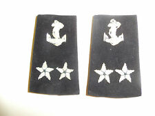 b3901p Vietnam RVN Navy Shoulder Slip on De Doc Rear Admiral 2 star pair IR9D