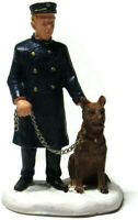 Lemax Christmas Village Police Canine Unit Brown Dog German Shepherd