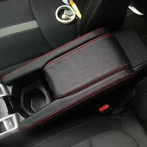 3*Center Console Pad Armrest BLACK Leather Cover For Honda Civic 10th Gen 16-17