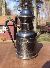 C. 1882+ Silverplated Syrup Jug by Rockford Silver Plate Co., Rockford, Illinois