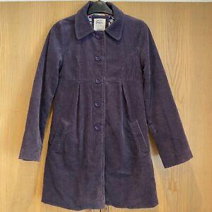 Girls Mini Boden Corduroy Button Up Coat Age 11-12 Years Purple Kids Jacket