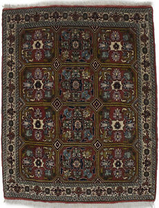 Rare Plush Burnt Orange Small 2X3 Floral Wool Area Rug Oriental Decor Carpet